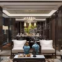 高屋林语堂装修效果图丨现代中式风格别墅设计