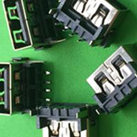 连欣工厂制造商供应USB插头USB2.0AF连接器插座10.0MM