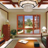 138断桥窗纱一体 铝合金门窗 平开窗