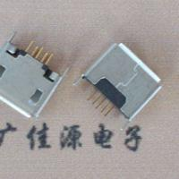 Micro USB 5p母座B型接口180度直插立式1.5/2.0端子卷边