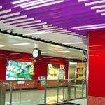 购物商城外墙装饰铝方通 休闲商城场所幕墙装饰木纹铝方通