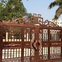 湖北别墅铝合金自动门 湖北庭院围墙围栏厂家直销别墅精雕门