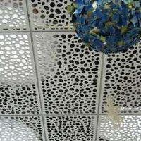 雕花铝单板天花吊顶安装设计师上门量尺寸的铝单板厂