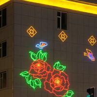 春节造型装饰灯光壁画