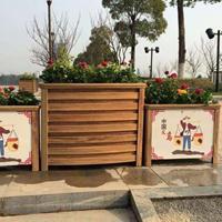 陕西仿木纹铝合金花箱,西安pvc塑木花箱,防腐木花箱种植箱