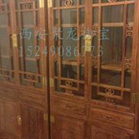 西安仿古书柜、实木书柜、红木书柜、老榆木书柜、中式书柜、定制