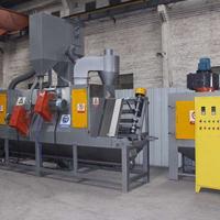 闸门手柄表面翻新处理设备 红海金属配件批量处理喷砂机