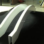 铝方通木纹色丨弧形铝方通拉弯吊顶