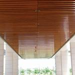 楼房售卖部材料弧形铝天花异形铝方通吊顶
