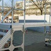 定制工业铝型材扶梯平台,检修平台,检修工作平台,移动检修平台