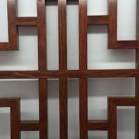 街道改造木紋鋁花格-仿古鋁窗花廠家