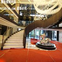 现代时尚的钢结构旋转楼梯 一站式定制厂家