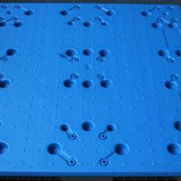 江西九江塑料托盘卡板货架叉车出口托盘凹槽烟标印刷托盘吹塑质保