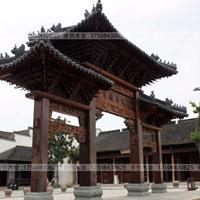 仿古牌坊牌楼古建门楼设计造价现场制作施工湖南湘西景区美丽乡村
