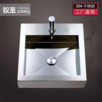 工厂直供优质304不锈钢亮光方形洗手盆台上脸盆