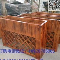 防腐木花箱 木花盆碳化木花盆 木质花槽 碳化木网格园艺木花箱