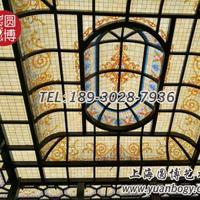 彩色玻璃穹顶彩绘玻璃穹顶室外玻璃穹顶定制