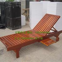 定制实木沙滩椅木制躺床躺椅户外椅泳池防腐木海滩躺椅