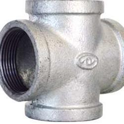 玛钢管件 4分6分镀锌铁管四通异径四通  厂家直销