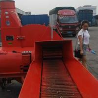新款大型10吨铡草机拖拉机带动青贮铡草机拖挂式秸秆铡草揉丝机