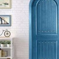 豪迈木门S3021现代地中海风情简约家居门实木门拱形门
