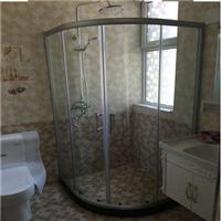 定制弧扇形淋浴房干湿分离隔断