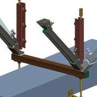 供应矩形风管双向支撑  抗震支吊架系统