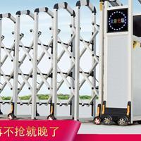 通凌门业不锈钢电动伸缩门自动伸缩门遥控学校工厂电动大门