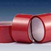 红色PET硅胶带 耐高温PET红色硅胶带