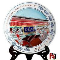 同学会20周年纪念品礼品瓷盘定做,商会纪念品定做厂家
