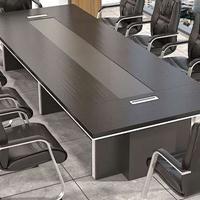 天津职员办公桌、现代简约工作台、长方形公司小型洽谈培训桌子
