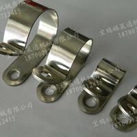 R型连胶条卡箍 M6螺丝孔单边固定管卡4mm~100mm