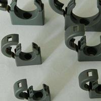 浙江尼龙软管固定支架 灰色/黑色圆盖波纹管固定座