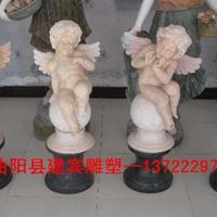 石雕天使 汉白玉西方小天使雕塑