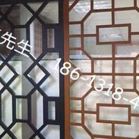 复古中式铝合金屏风定制_广东铝屏风厂家定制