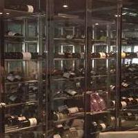 玻璃门酒柜,玻璃门红酒陈列架,不锈钢红酒架