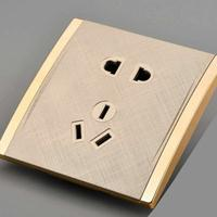SIMIOENG电源插座二三级磷铜五孔插座