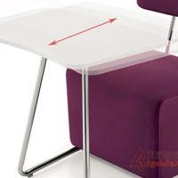 培训沙发椅 带写字板记录椅 商务洽谈会客接待沙发批发