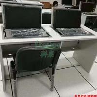 翻转器电脑桌 翻转式电脑桌单人双人三人