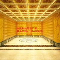 中式装修寺庙天花会馆装修彩绘古建修缮古建藻井艺术吊顶禅堂用品