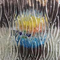 厂家直销定制水纹 叠纹居家装修 墙面装饰热熔玻璃