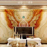 现代欧美式3D瓷砖电视背景墙  高端奢华影视艺术背景墙  皇室飞花
