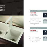 佰朗格欧式厨房BLG-7647AD石英石水槽、洗菜盆、洗碗盆双槽