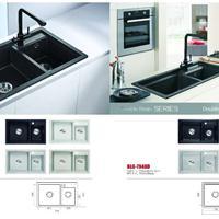 佰朗格欧式厨房BLG-7847D石英石水槽、洗菜盆、洗碗盆单槽