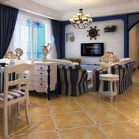 良彬建材美式乡村仿古砖客厅瓷砖 地板砖 磨圆角瓷砖新款