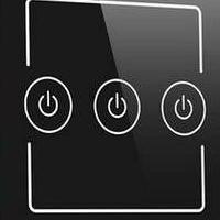 厂家直销 智能灯光控制器 照明开关三位 钢化玻璃触控面板