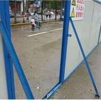 宁波施工彩钢板围挡,市政夹芯板围栏,各种规格厂家直销。