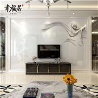 幸福居厂家批发直销影视墙 微晶石拼花现代简约瓷砖背景墙 烟雾