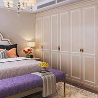上海玛格全屋定制实木整体衣柜衣帽间定制现代卧室床头柜梳妆台