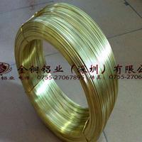【金铜铝业】厂家直销 H65黄铜线 铜扁线 1.45*6.25mm 插头扁线